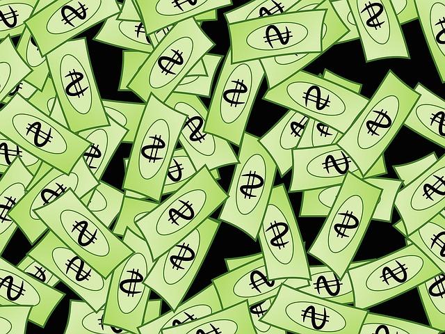 zelené bankovky – ilustrace