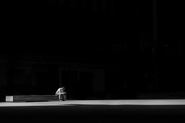 samota,člověk, stín